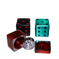 Dice Shaped  3 Piece 1.75'' Zinc Grinder