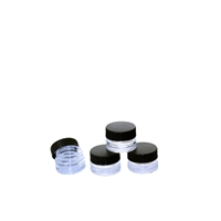 5ml Black Cap Glass Concentrate Container