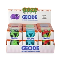 Ooze Geode Silicone & Glass Container Display - 12ct Display
