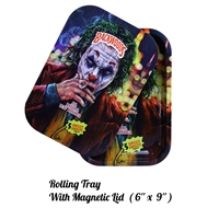 "Metal Rolling Tray with Magnetic Cover 6""X9"" - 25 Designs"