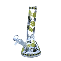 "8"" Waterpipe - Stemless - With Beehive Design"